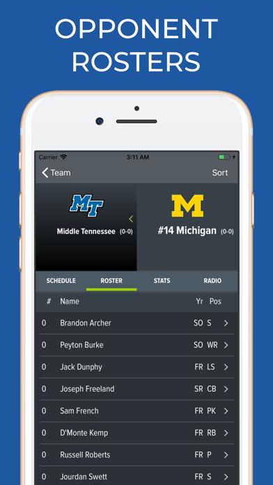 Screenshot for Michigan Football Schedules in Canada App Store