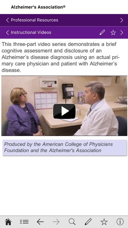 Alzheimer's Disease Pocketcard screenshot-3