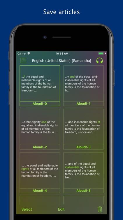Aloud! - Text to speech screenshot-4