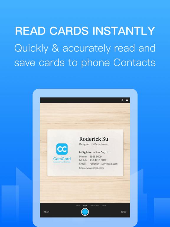 camcard business card scanner  app voor iphone ipad en