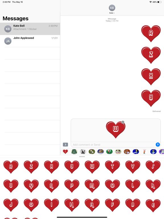 Heart Alphabets Stickers screenshot 6