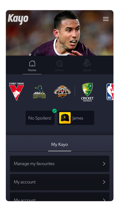 Download Kayo Sports for Pc