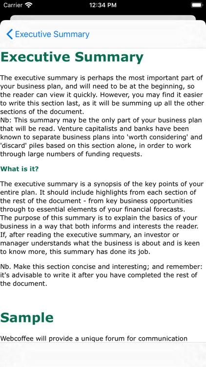 Business Plan screenshot-4