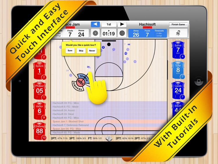 Basketball Stat Tracker HD screenshot-0