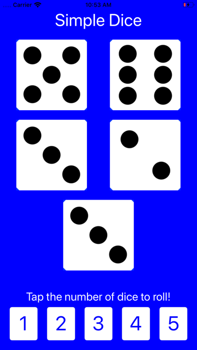 Simple Dice: Roll 1-5 Dice! screenshot two