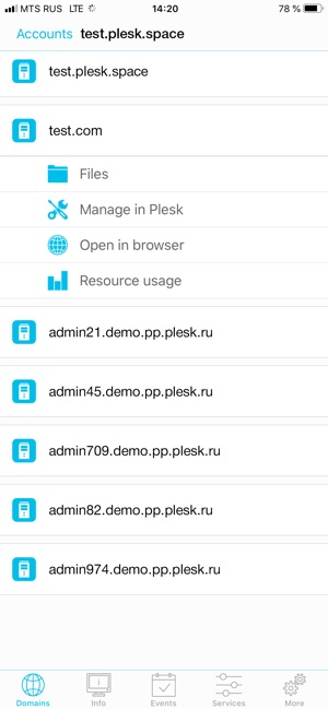Plesk Mobile on the App Store