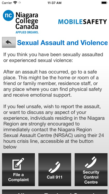 Mobile Safety Niagara College screenshot-6
