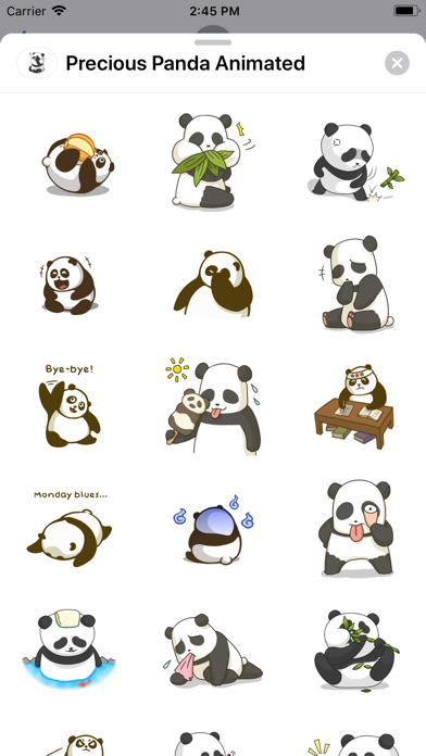 Precious Panda Animated screenshot 4