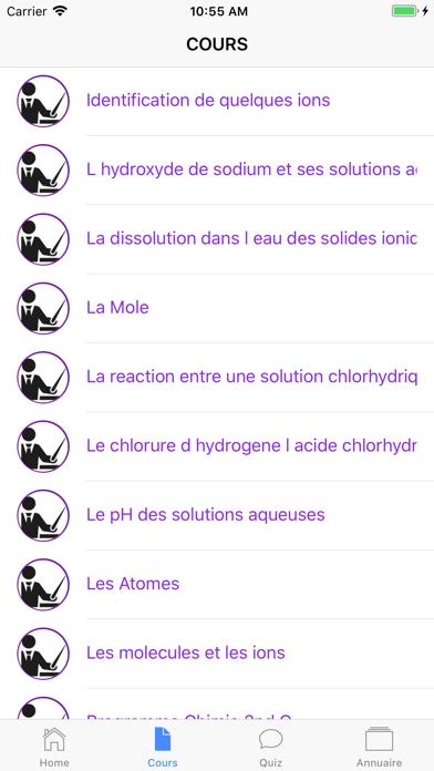 Chimie Seconde screenshot 4