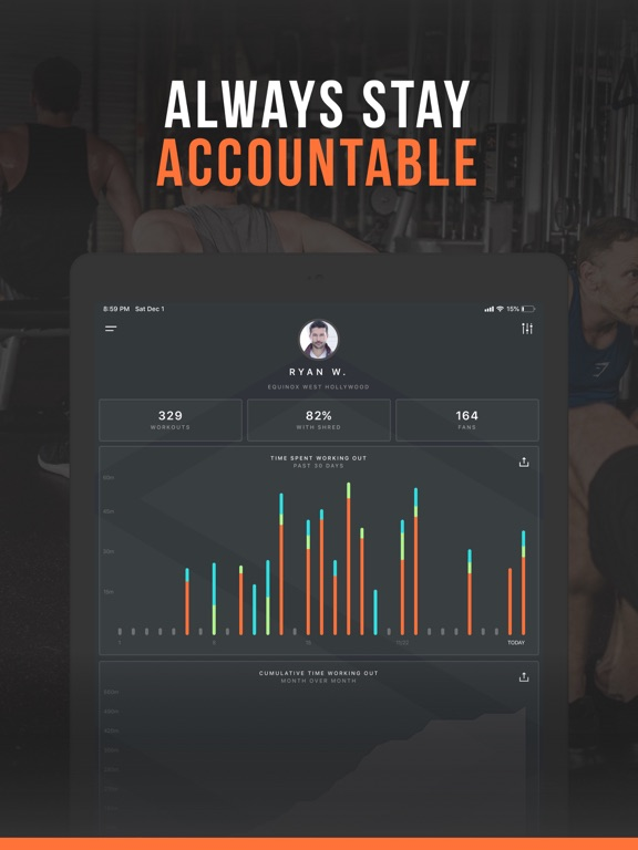 iPad Image of SHRED: Gym Workout & Tracker