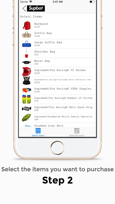 Supbot - Supreme Bot app image
