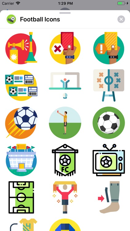 Football Icons Sticker Pack