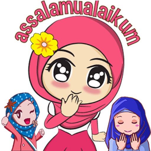 Hijab Islam Cute Stickers HD
