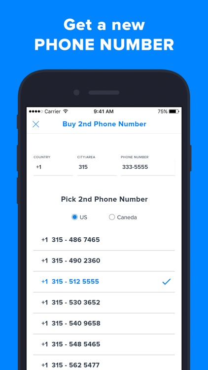 Second Phone Number' screenshot-0
