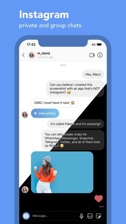 Fake It – The fake chat maker screenshot-3
