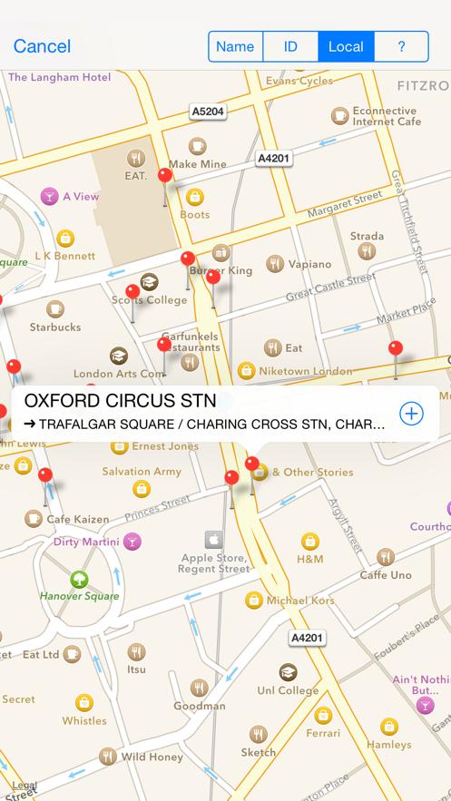 Next Bus Times London App 截图