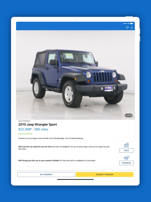 CarMax: Used Cars for Sale on the App Store