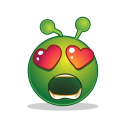 Green Smiley Emoji Stickers