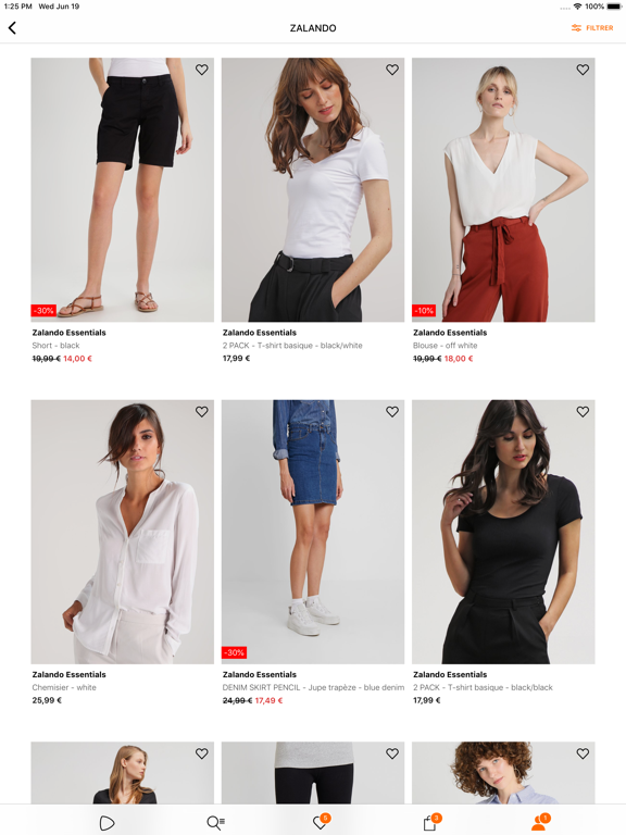 Zalando - Shopping mode