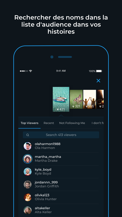 Reports+ pour Instagram sur pc