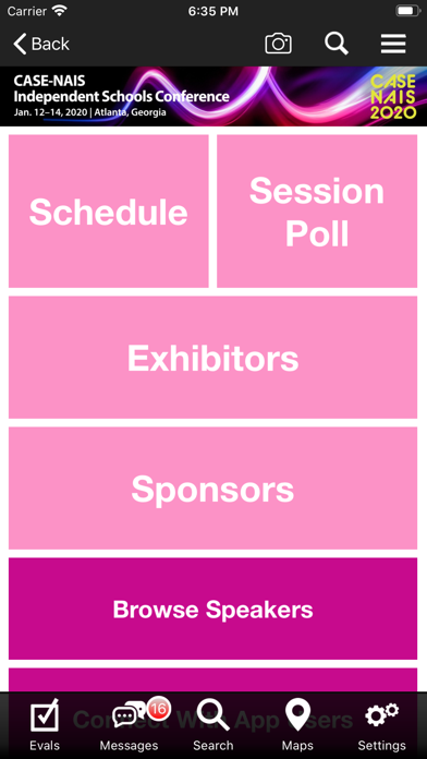 CASE Conference App screenshot three