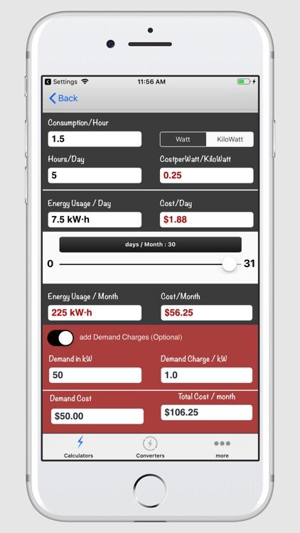 Electrical Calculator screenshot-4