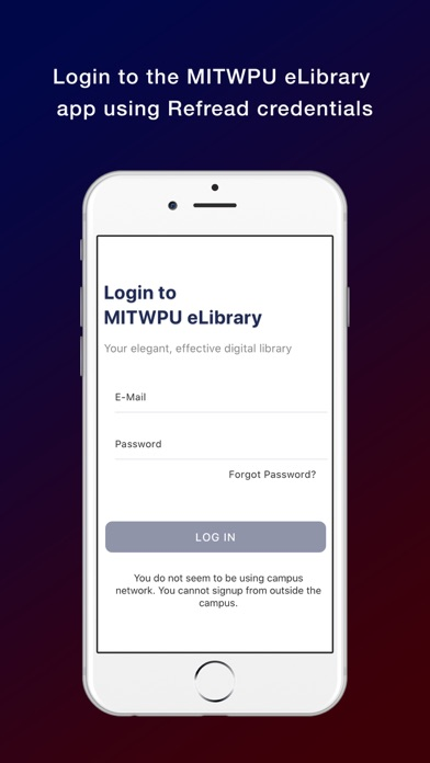 MITWPU eLibrary screenshot 1