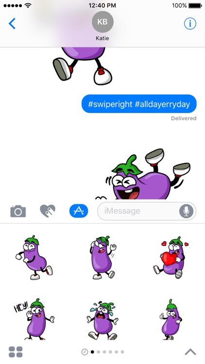 Eggplant Stickers screenshot-3