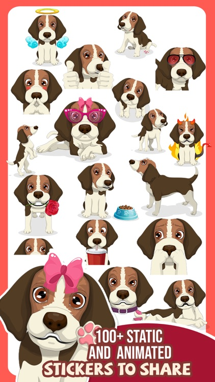 Beagle Dog Emojis Stickers App