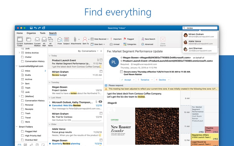Outlook Screenshot