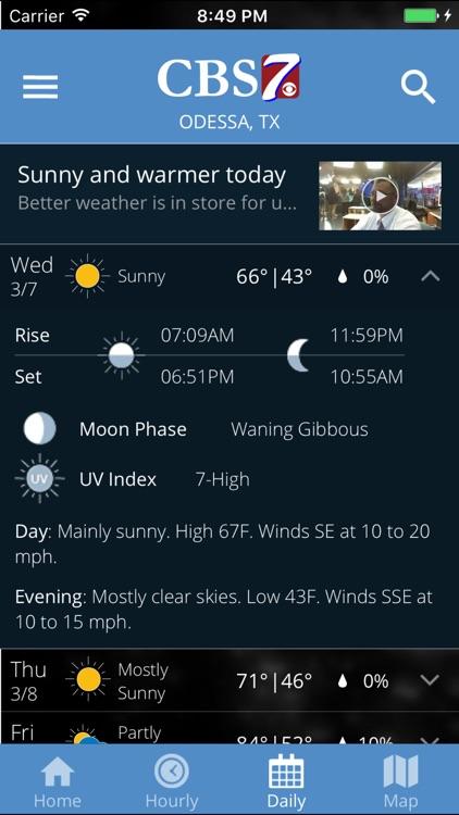 CBS7 Weather screenshot-4