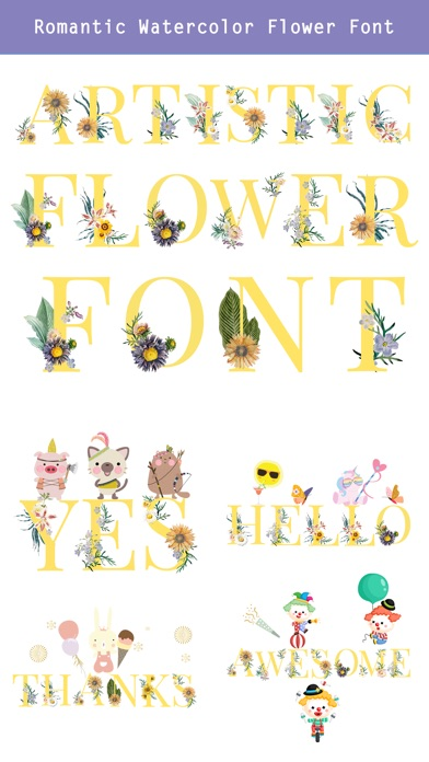 CUFON - Custom Flower Font screenshot 4