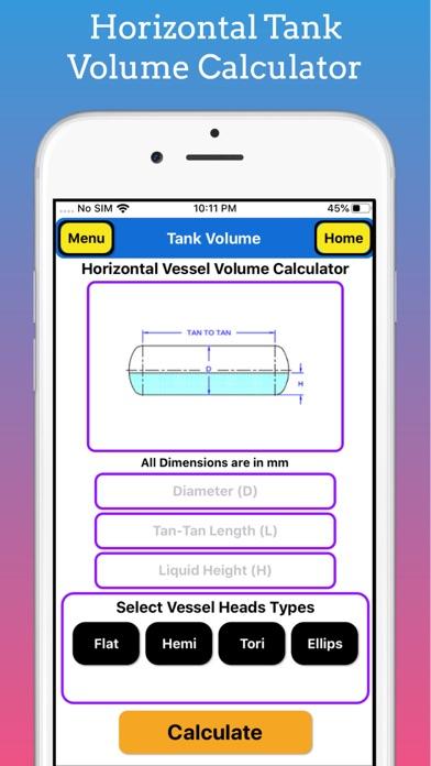 Tank Partial Volume Calculator screenshot 2