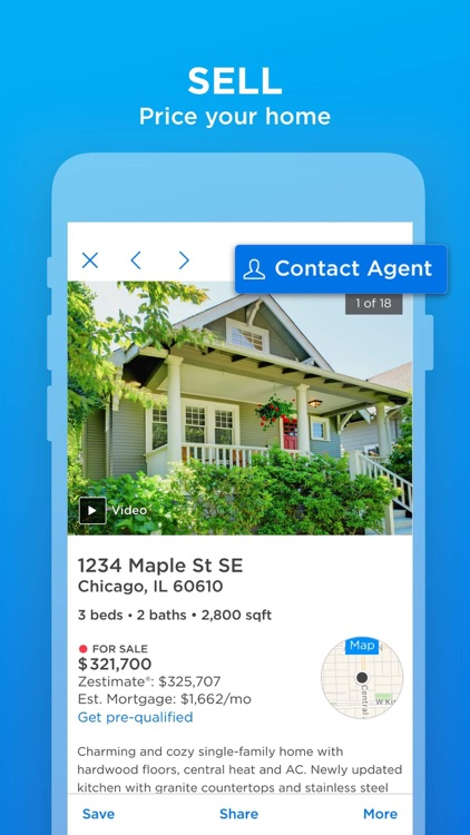 on zillow map real estate