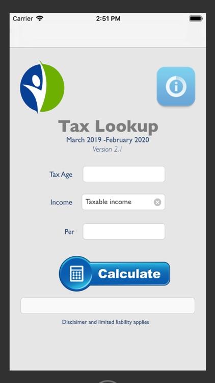 Tax Calculator 2019/2020