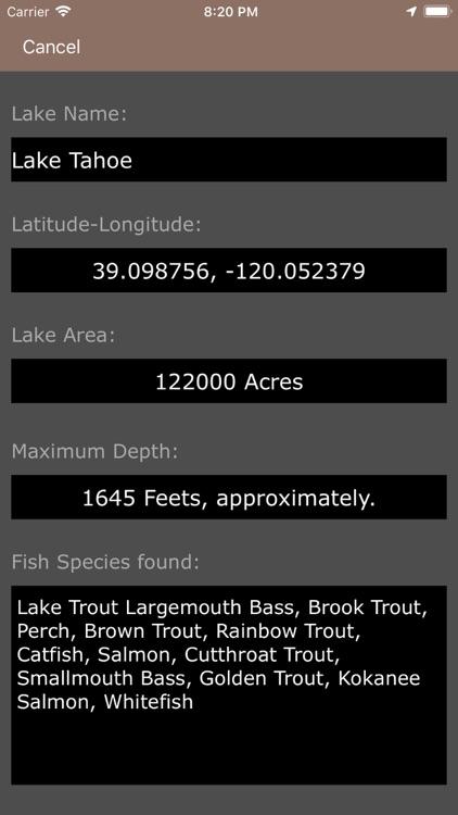 California & Oregon Fish Lakes