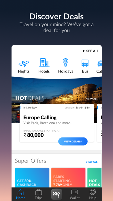 Download MakeMyTrip - Flights, Hotels for Pc