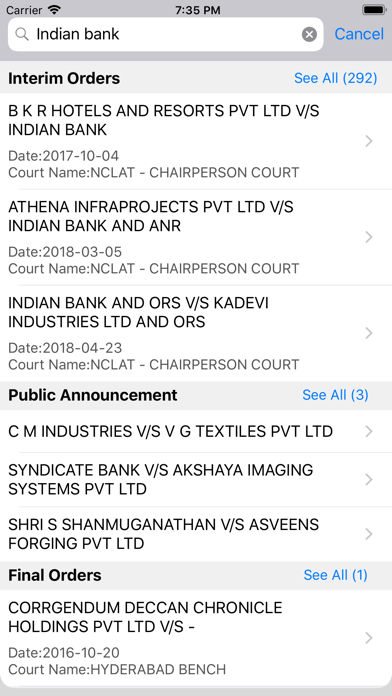 LegalAstra NCL - NCLT/NCLAT screenshot two