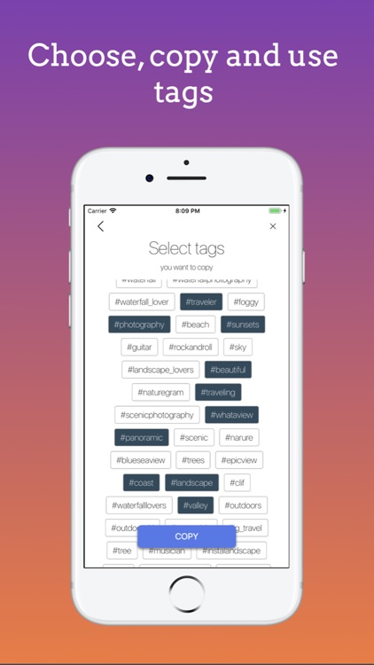 Tagenator - Tags for Instagram