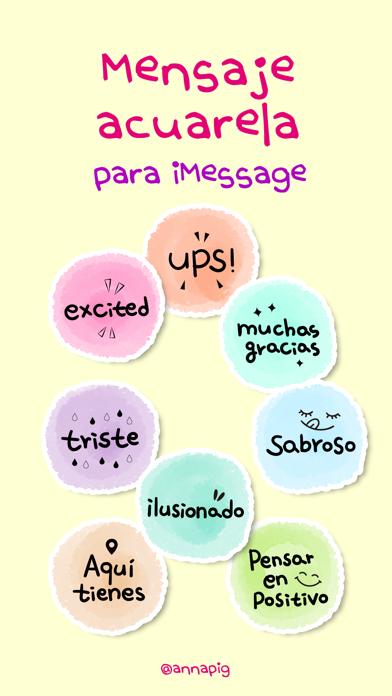 Mensaje acuarela screenshot 1