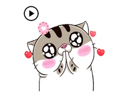 Animated Funny Fat Cat Sticker