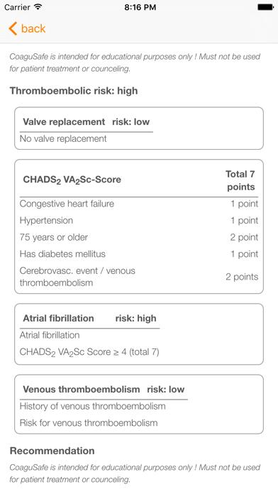 CoaguSafe - Anticoagulant Screenshots