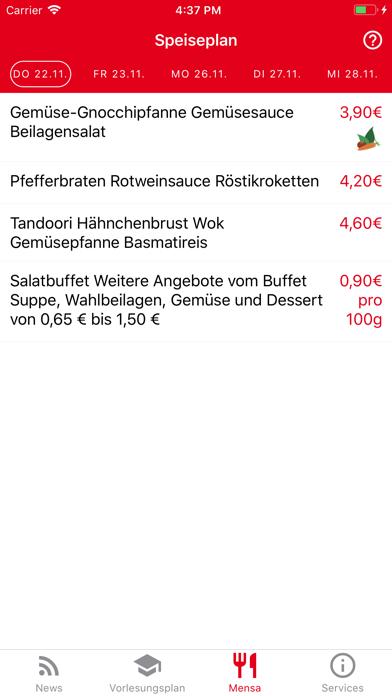 Screen Shot DHBW Lörrach Campus App 2