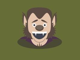 Wolfie - Monster Mojis Series