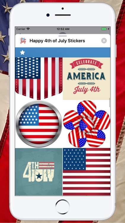 Happy 4th of July Stickers ! screenshot-7