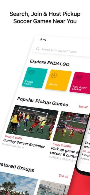 e64841bc6f4 ENDALGO - Pickup Soccer Games on the App Store