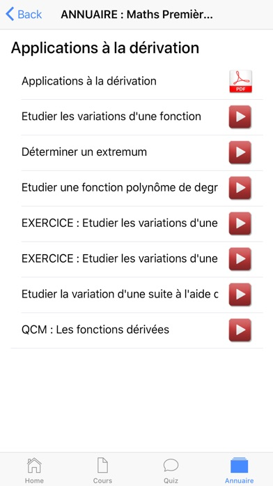 Maths Première S screenshot 9