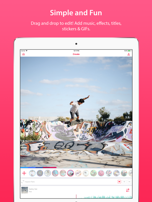 iPad Image of Lomotif - Music Video Editor