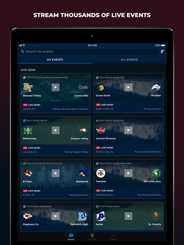 NFHS Network Live on the App Store