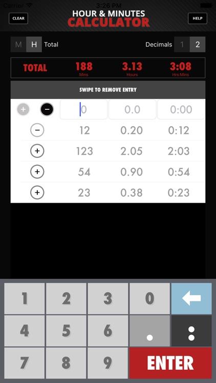 Calculator Hour & Minutes screenshot-4